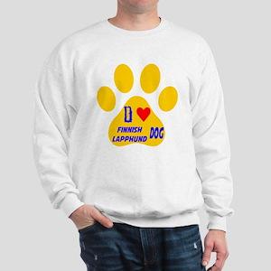 I Love Finnish Lapphund Dog Sweatshirt