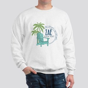 Sigma Alpha Epsilon Beach Personalized Sweatshirt