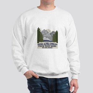 Sigma Alpha Epsilon Mountains Personali Sweatshirt