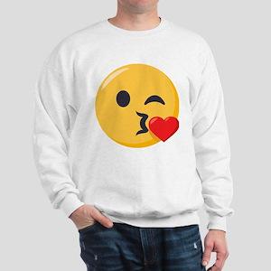 Kissing Emoji Sweatshirt
