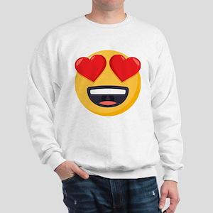 Heart Eyes Emoji Sweatshirt