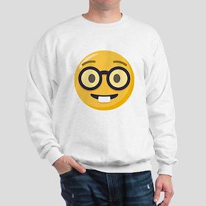 Nerd-face Emoji Sweatshirt