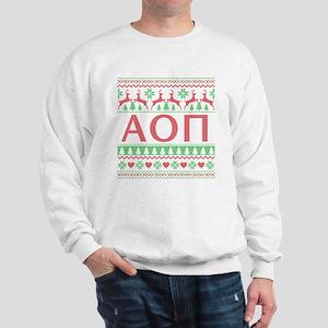 Alpha Omicron Pi Ugly Christmas Sweatshirt