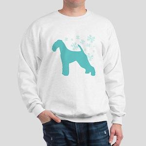 Airedale Terrier Snowflake Sweatshirt