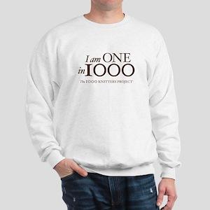 One in 1000 (Version 3) Sweatshirt