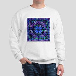 Blue Quilt Sweatshirt