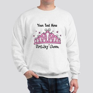 Personalized Tiara Birthday Queen Sweatshirt
