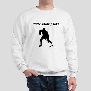 Custom Hockey Player Silhouette Sweatshirt