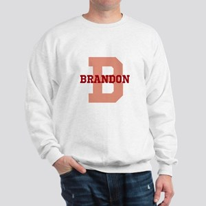 CUSTOM Initial and Name Red Sweatshirt