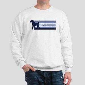 Airdale Terrier (retro-blue) Sweatshirt