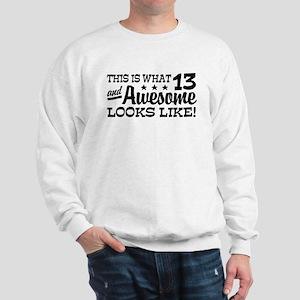 Funny Thirteen Year Old Sweatshirt