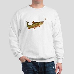 Vintage trout fishing illustration Sweatshirt