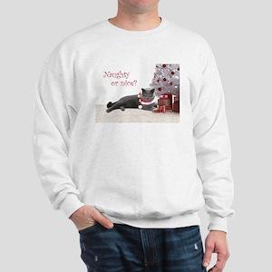 Cat Under Christmas Tree Sweatshirt