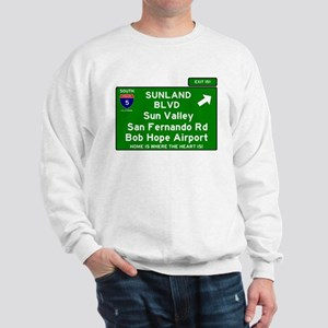 I5 INTERSTATE EXIT SIGN - CALIFORNIA - Sweatshirt