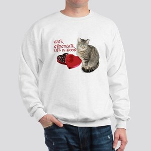 Cats and chocolate Sweatshirt