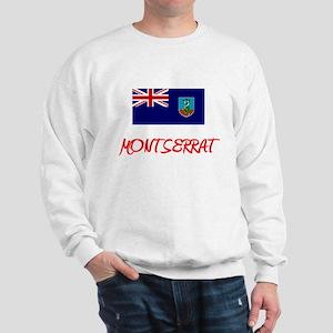 Montserrat Flag Artistic Red Design Sweatshirt