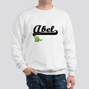 Abel Classic Name Design with Dinosaur Sweatshirt