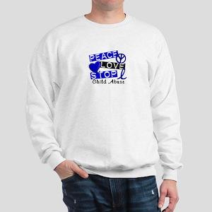 Peace Love Stop Child Abuse 1 Sweatshirt