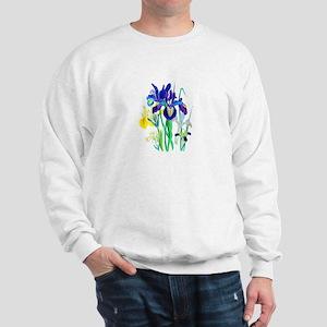 Blue and Yellow Iris by Loudon Sweatshirt