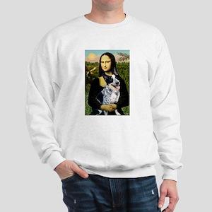 Mona Lisa/Cattle Dog Sweatshirt
