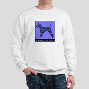 Airdale Terrier Pop Art Blue Sweatshirt