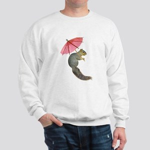 Squirrel Pink Parasol Sweatshirt