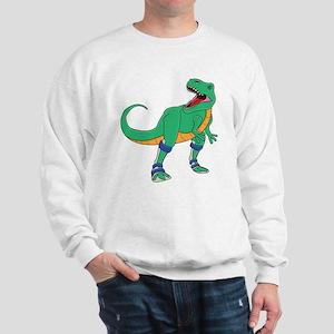 Dino with Leg Braces Sweatshirt