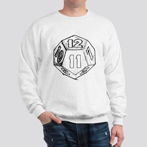 12 sided die dark Sweatshirt