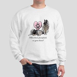 Elkie Pawprints Sweatshirt