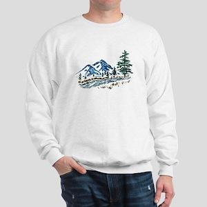Sketch Mountain Scene Sweatshirt