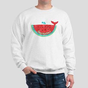 Cute Nantucket Watermelon Whale Sweatshirt