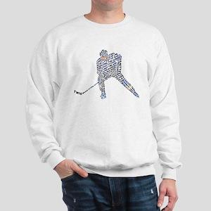 Hockey Player Typography Sweatshirt