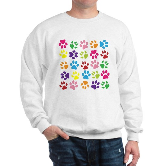 Multiple Rainbow Paw Print Design