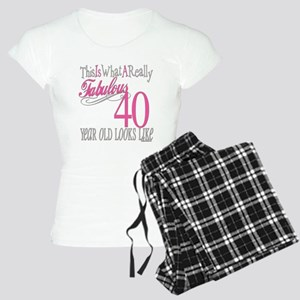 40th Birthday Gifts Women's Light Pajamas