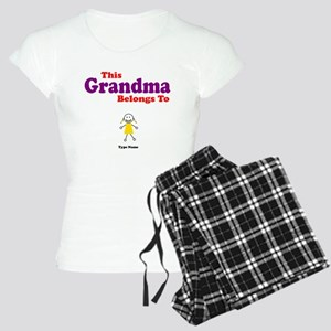 This Grandma Belongs Granddau Women's Light Pajama