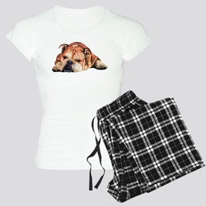 English Bulldog Art Portrait Women's Dark Pajamas