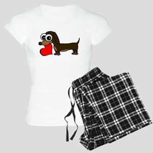 Cute Dachshund with Heart Pajamas