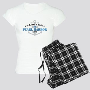 US Navy Pearl Harbor Base Women's Light Pajamas