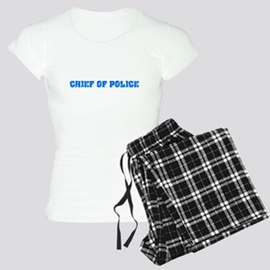 Chief Of Police Blue Bold Design Pajamas