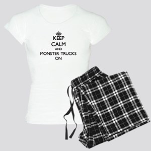 Keep Calm and Monster Truck Women's Light Pajamas