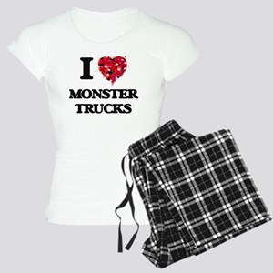 I love Monster Trucks Women's Light Pajamas