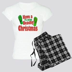 Flip Flop Christmas Women's Dark Pajamas