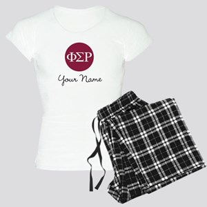 Phi Sigma Rho Letters Perso Women's Light Pajamas