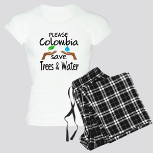 Please Colombia Save Trees Women's Light Pajamas