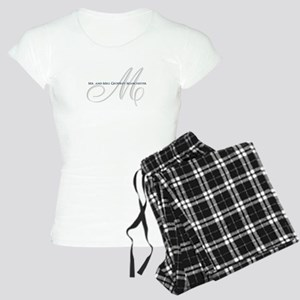 Elegant Name and Monogram Pajamas