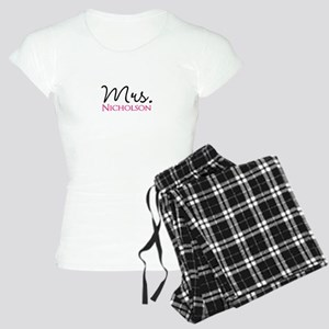Customizable Name Mrs Women's Light Pajamas