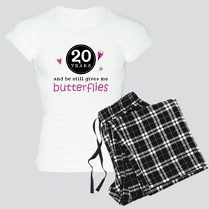 20th Anniversary Butterflies Women's Light Pajamas