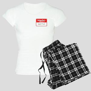 Personalized Hello Name Tag Women's Light Pajamas