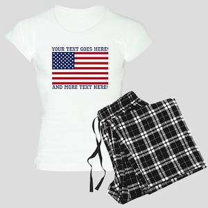 Personalized Patriotic American Flag Classic Pajam