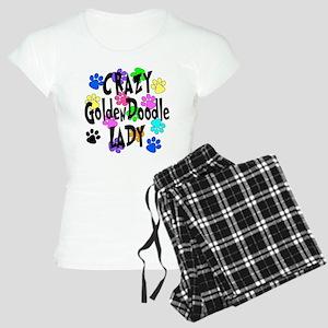 Crazy Goldenddoodle Lady Women's Light Pajamas